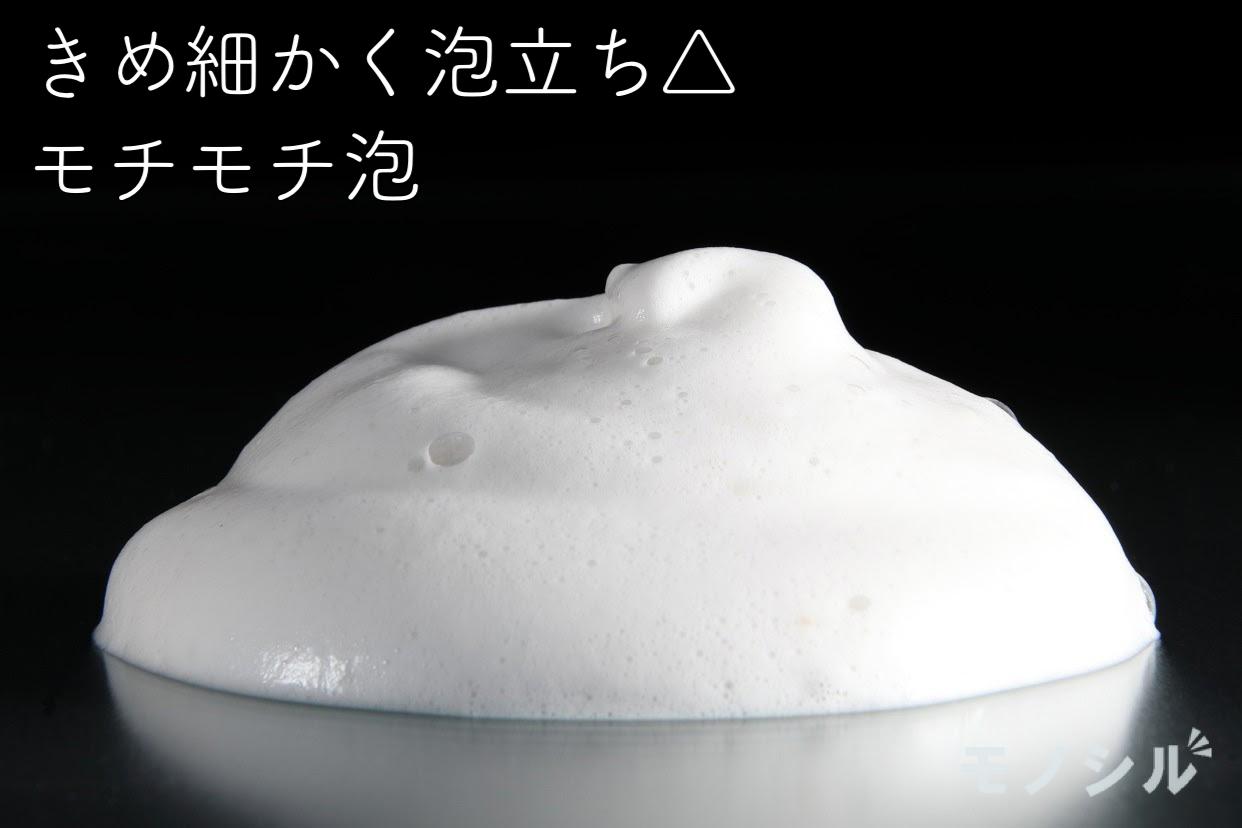 どろあわわ どろあわわ 洗顔料の商品で作った泡とその説明