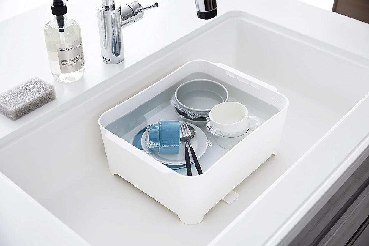 山崎実業(Yamazaki) 洗い桶 タワー 3591 ホワイトの商品画像7