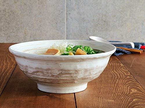 TABLE WARE EAST.(テーブルウェアイースト) 刷毛目粉引 6.8寸ラーメン丼  白の商品画像6