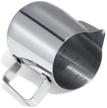 GWHOLE(ジホール)ミルクピッチャー ステンレス製 350ml シルバーの商品画像