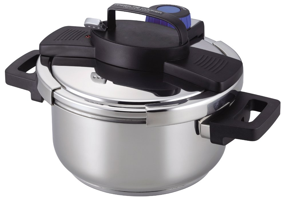 パール金属(PEARL) 3層底ワンタッチレバー圧力鍋 H-5388の商品画像