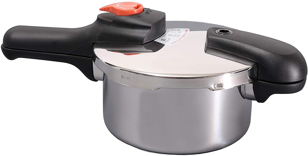 パール金属(PEARL) 節約クック ステンレス製圧力切替式片手圧力鍋2.5L  H-5434の商品画像