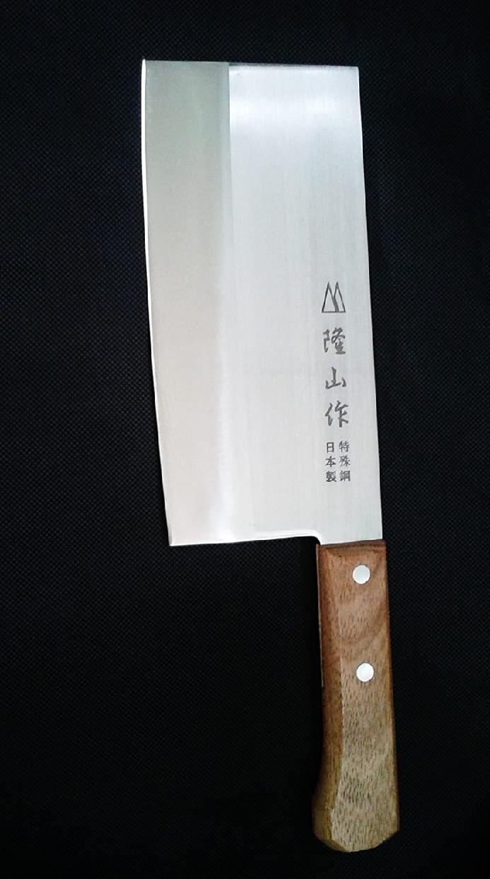 隆山作(リュウザンサク) 中華包丁 刃渡り17.5cmの商品画像5