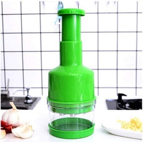 MiXXAR(ミキサー)みじん切り器 野菜 押すだけでみじん切り プレスカット チョッパー 手動 緑の商品画像