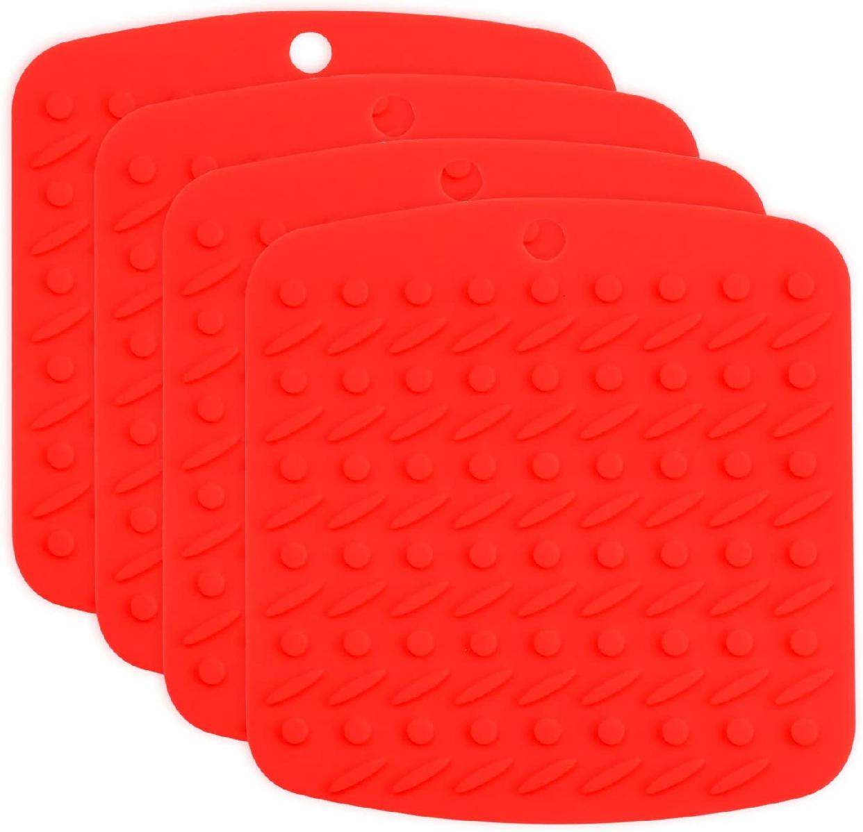 M BOX(エムボックス) 鍋つかみ4枚セット レッドの商品画像