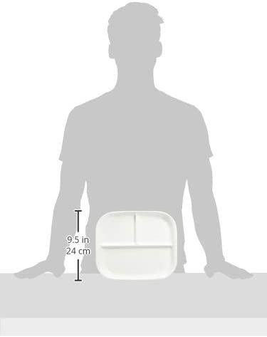 パール金属(パールキンゾク)あつかいやすい仕切付スクエアプレート(ホワイト) K-6388の商品画像5
