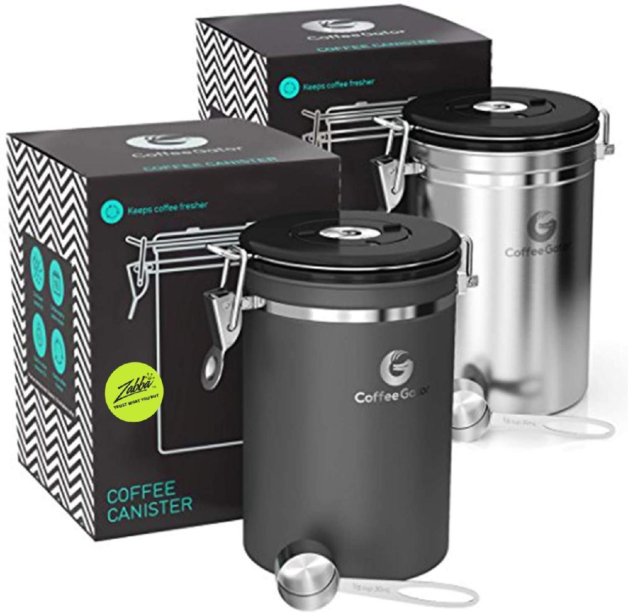 Coffee Gator(コーヒーゲーター) ステンレススチール コーヒーキャニスター 2-packの商品画像