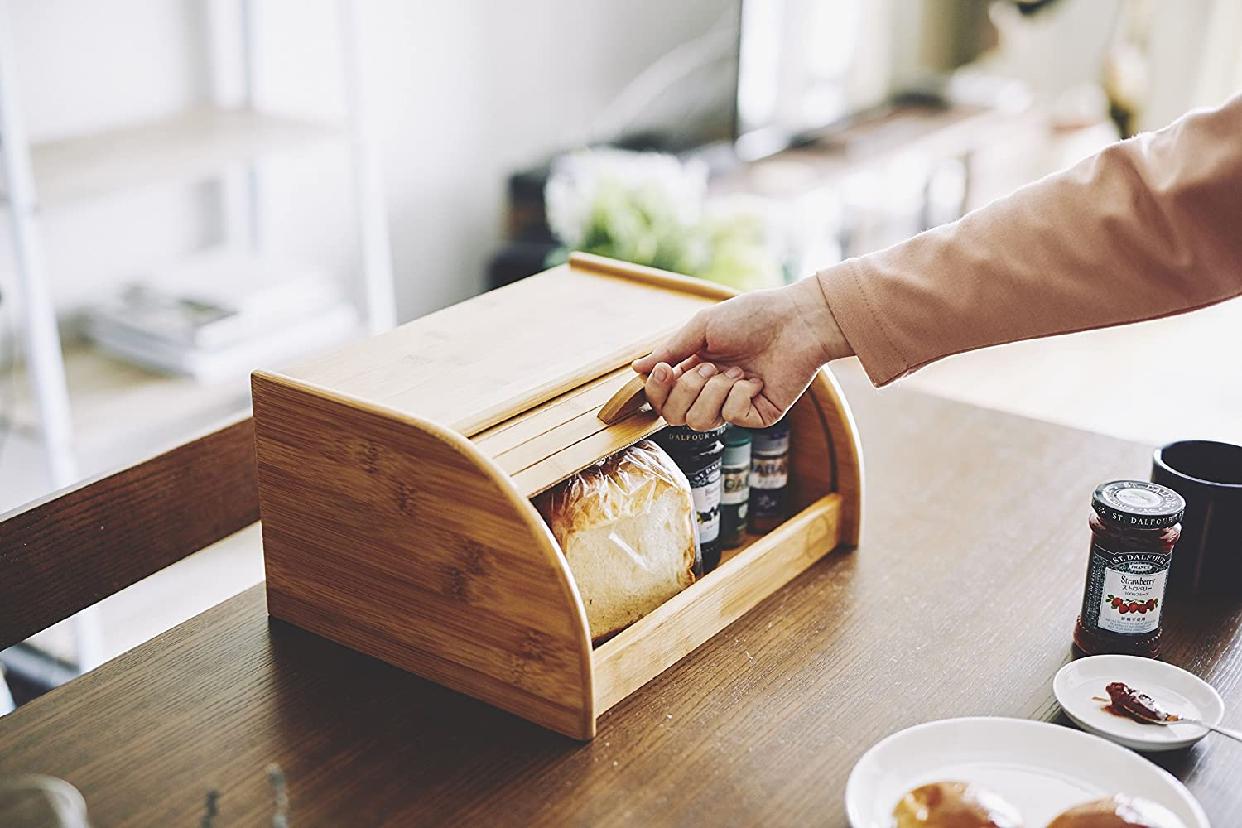 La Cuisine(ラ クイジーヌ) 竹製ブレッドケース ナチュラル EF-LC05の商品画像4