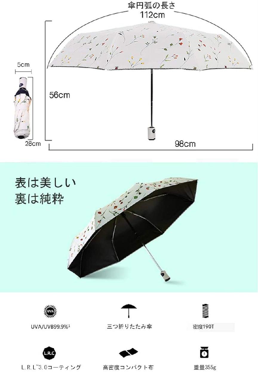 VASLON(バスロン) 日傘 晴雨兼用 折りたたみ傘の商品画像2