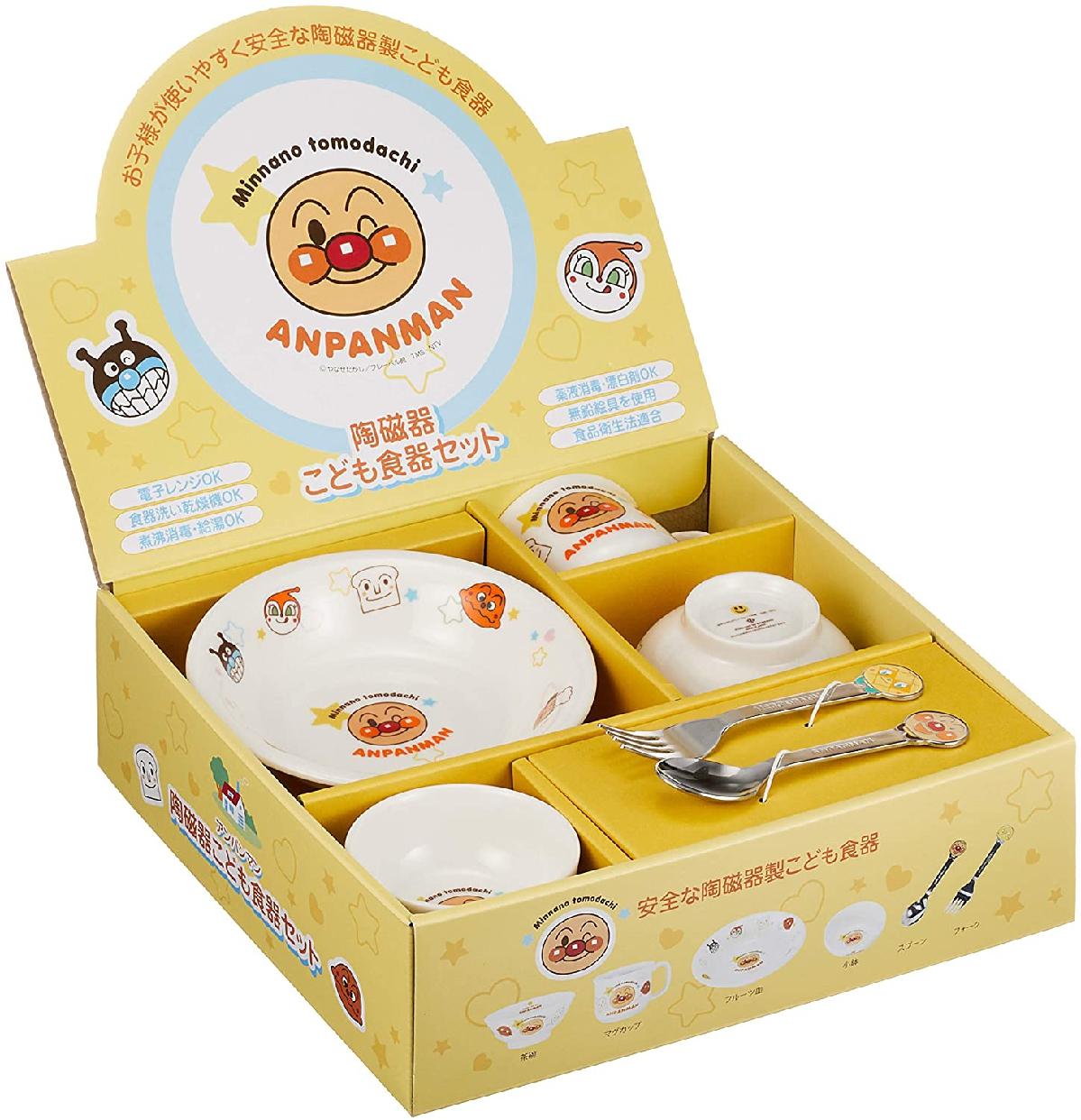 金正陶器 それいけ!アンパンマン お子様食器ギフトセット M 074740 白の商品画像