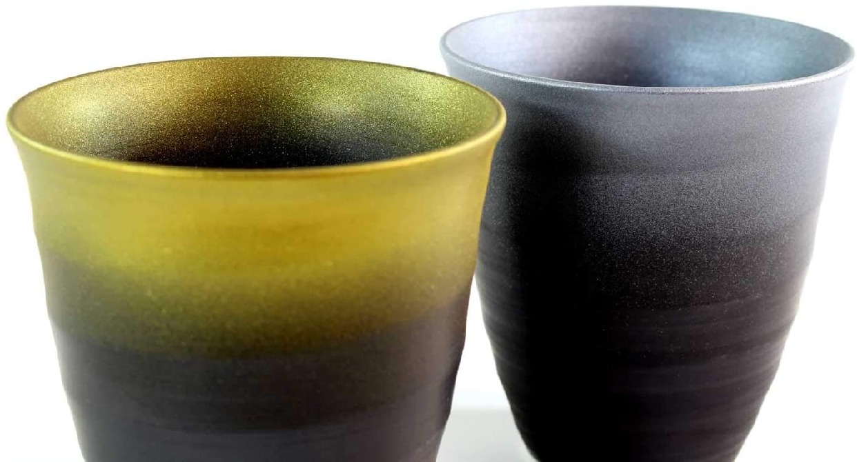 藤井錦彩窯 窯変金プラチナ彩焼酎カップペアセットの商品画像3