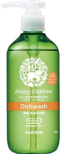 Happy Elephant(ハッピーエレファント) 野菜・食器用洗剤 オレンジ&ライムの商品画像