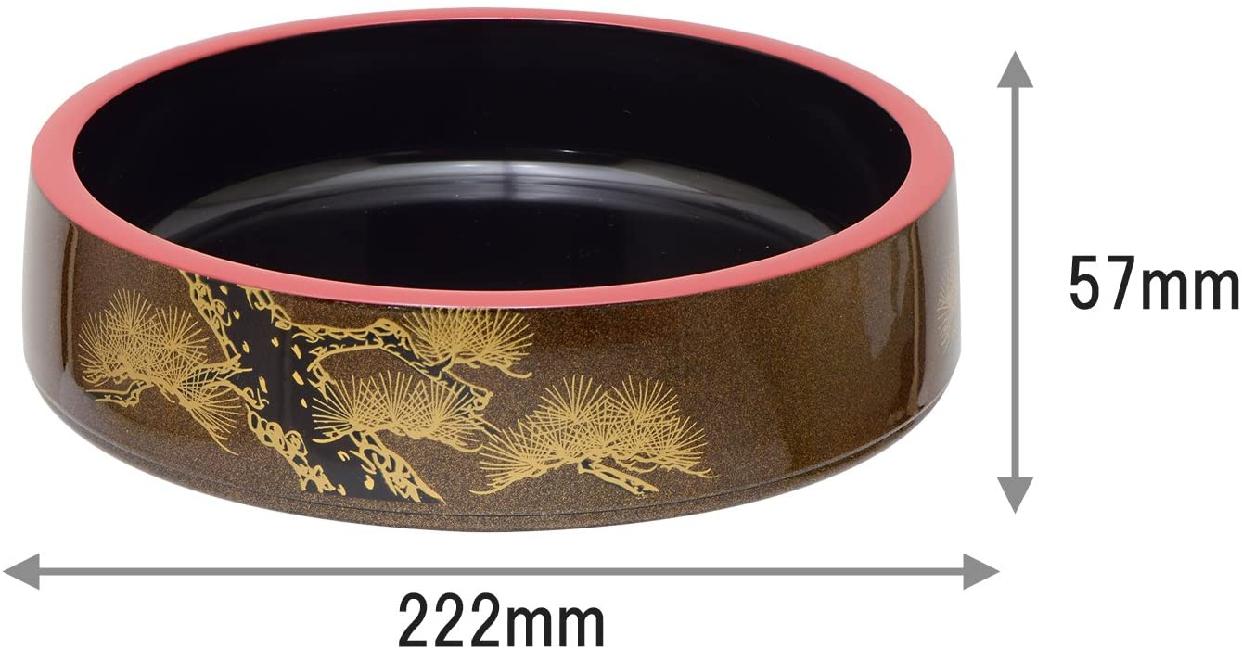 高儀 寿司桶梨地老松  1人7寸の商品画像4