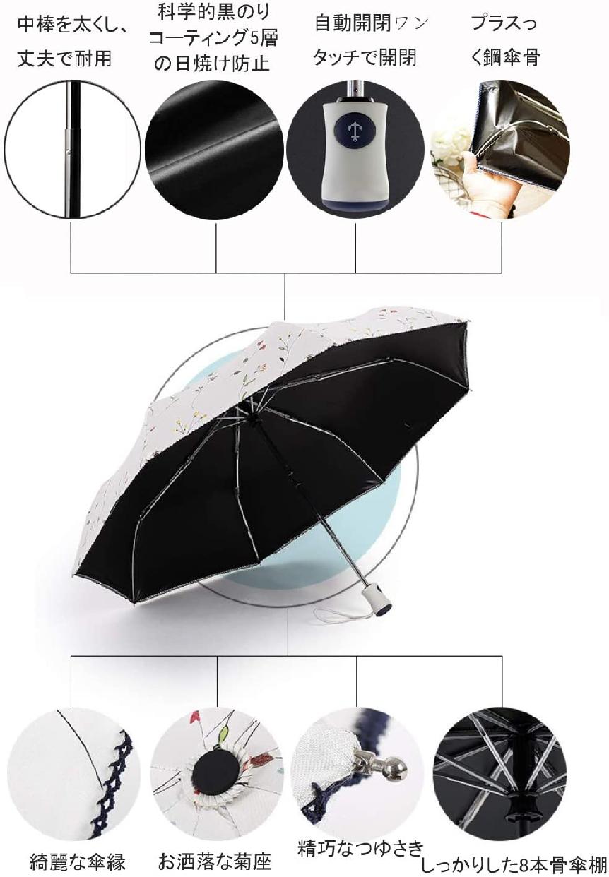 VASLON(バスロン) 日傘 晴雨兼用 折りたたみ傘の商品画像4