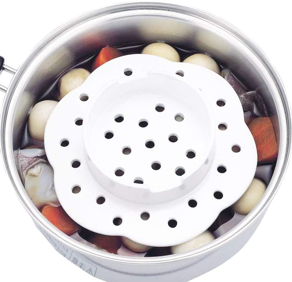 貝印(カイ)蒸し器 & 蒸し蓋 セラミック ホワイト DH7028の商品画像6