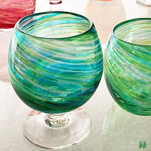 琉球ガラス(リュウキュウガラス)美ら海ブランデーグラスの商品画像2