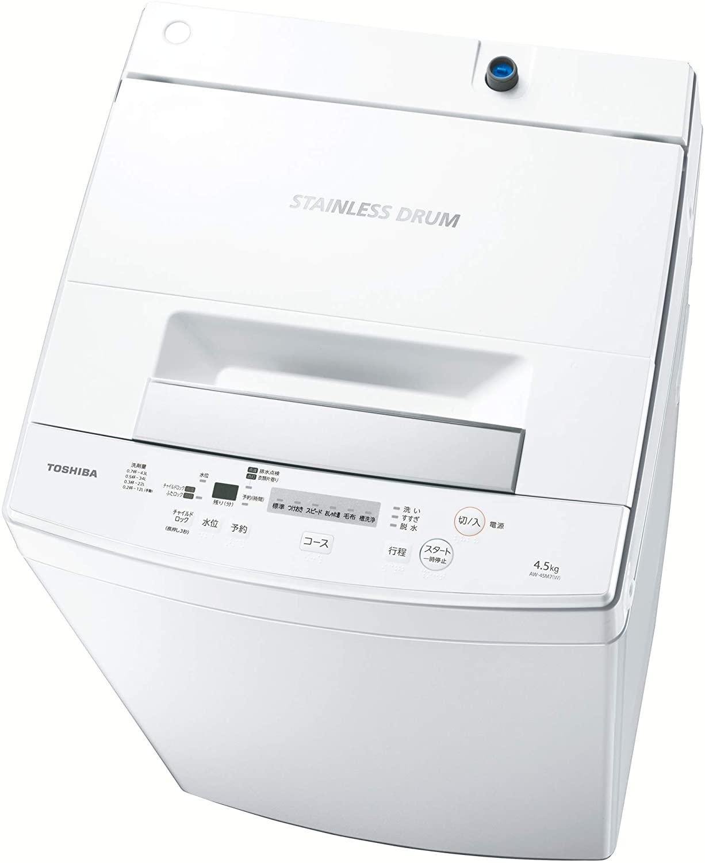 東芝(TOSHIBA) 全自動洗濯機 AW-45M7の商品画像
