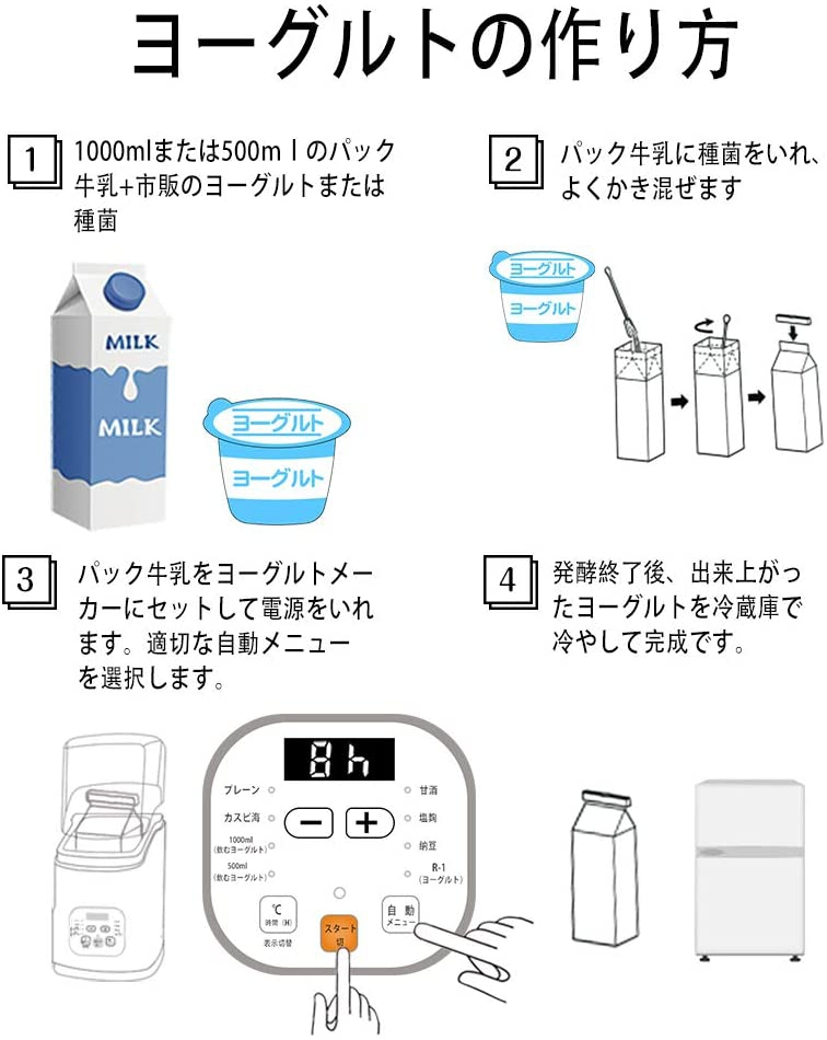 RAKU(ラク)令和新開発 ヨーグルトメーカーの商品画像3