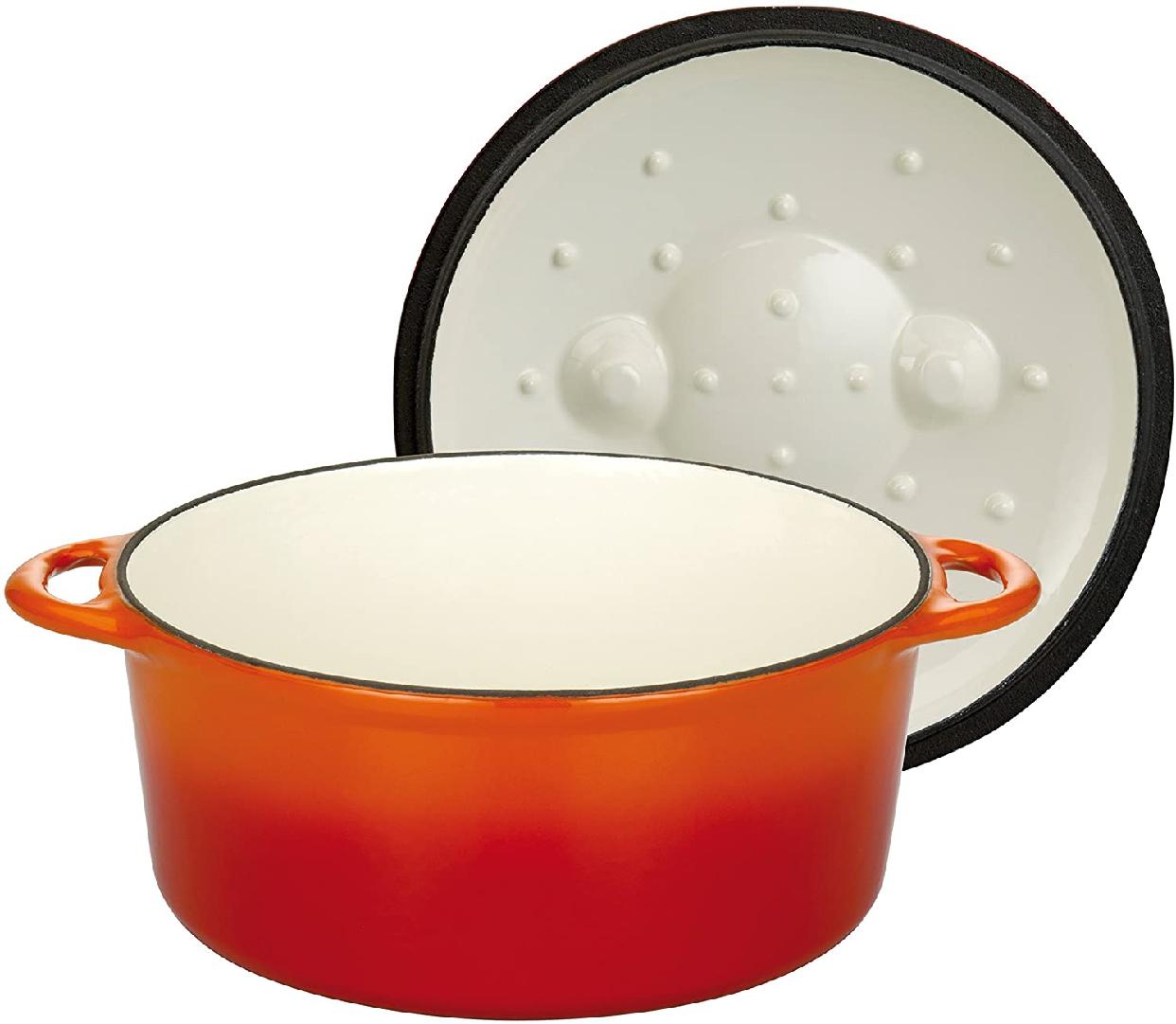 ruhru(ルール) Orange Shadow(オレンジシャドウ) 無水調理鍋 24cmx10cmの商品画像2
