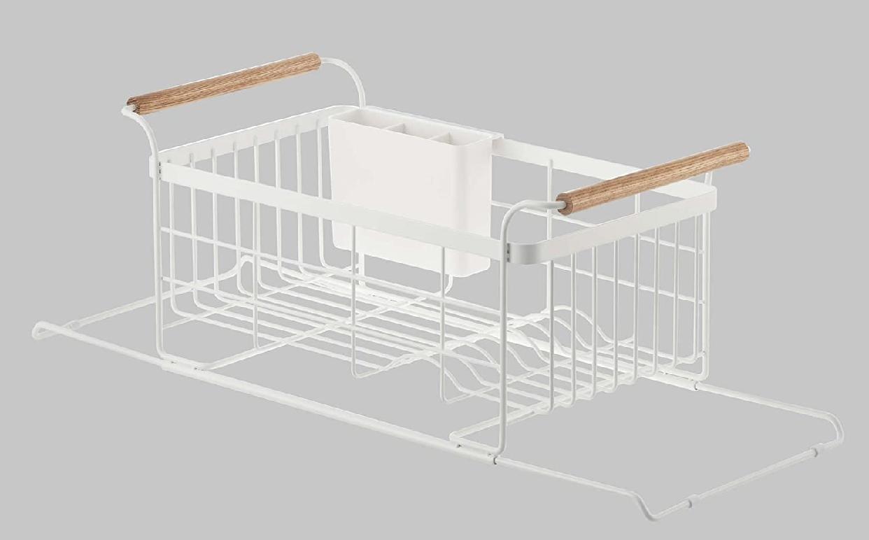 山崎実業(Yamazaki) 伸縮水切りバスケット トスカ 3108 ホワイトの商品画像8