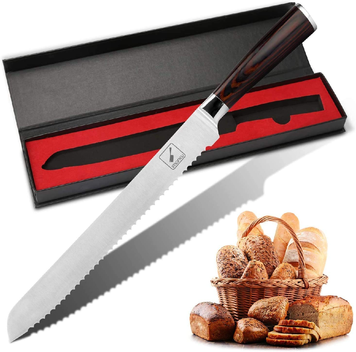 imarku(イマルク) ブレッドナイフ 10インチ シルバーの商品画像