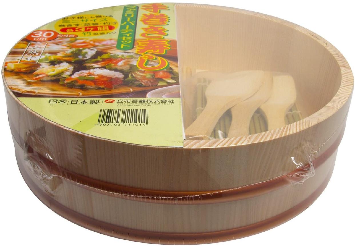 立花容器 寿司桶 手巻き寿司 セット 30cmの商品画像2