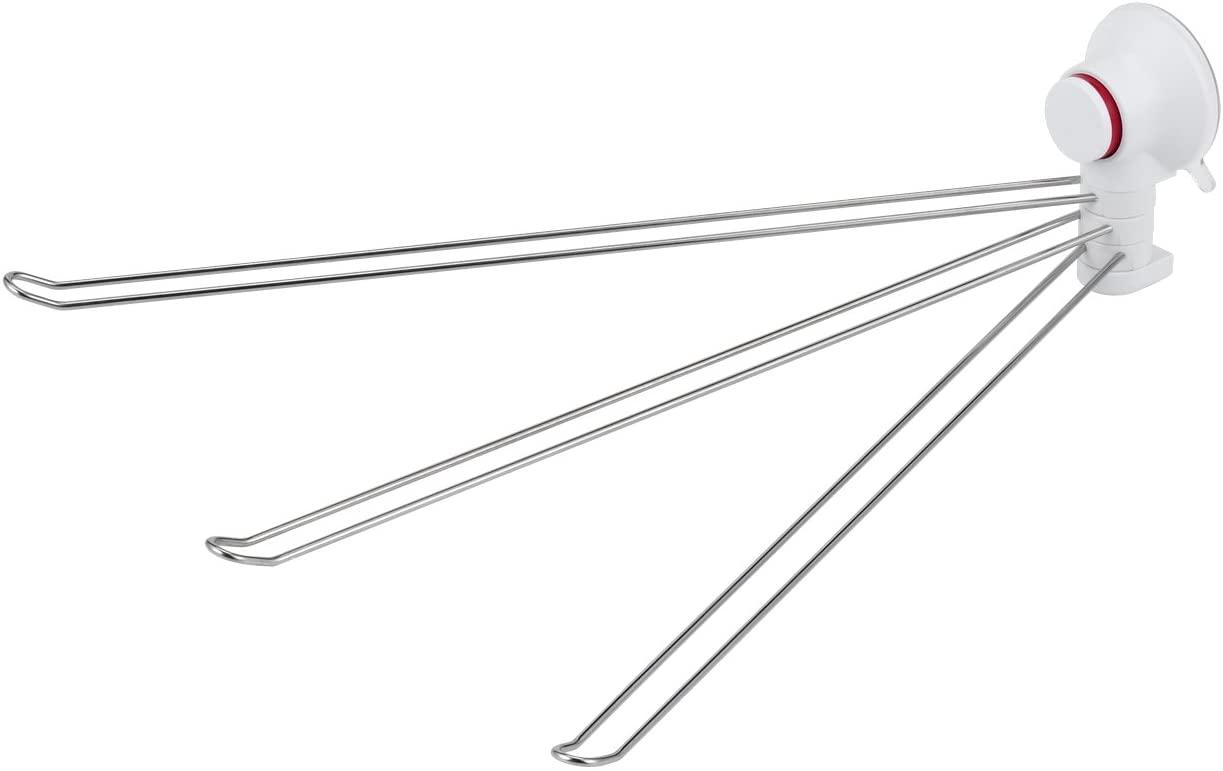 LEC(レック)あら便利 3本ふきん掛け プッシュ式吸盤タイプの商品画像