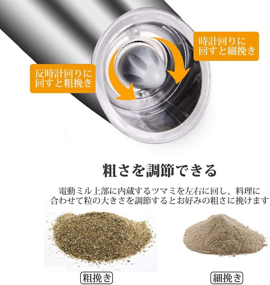 Ninonly(ニノンリー)光る電動ペッパーミルの商品画像4