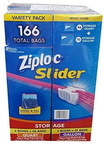 Ziploc(ジップロック) スライダーバッグ 166枚の商品画像