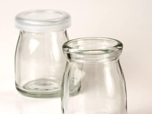 天満紙器(テンマシキ)ミルクボトル90cc(無地) ふた付5個セットの商品画像