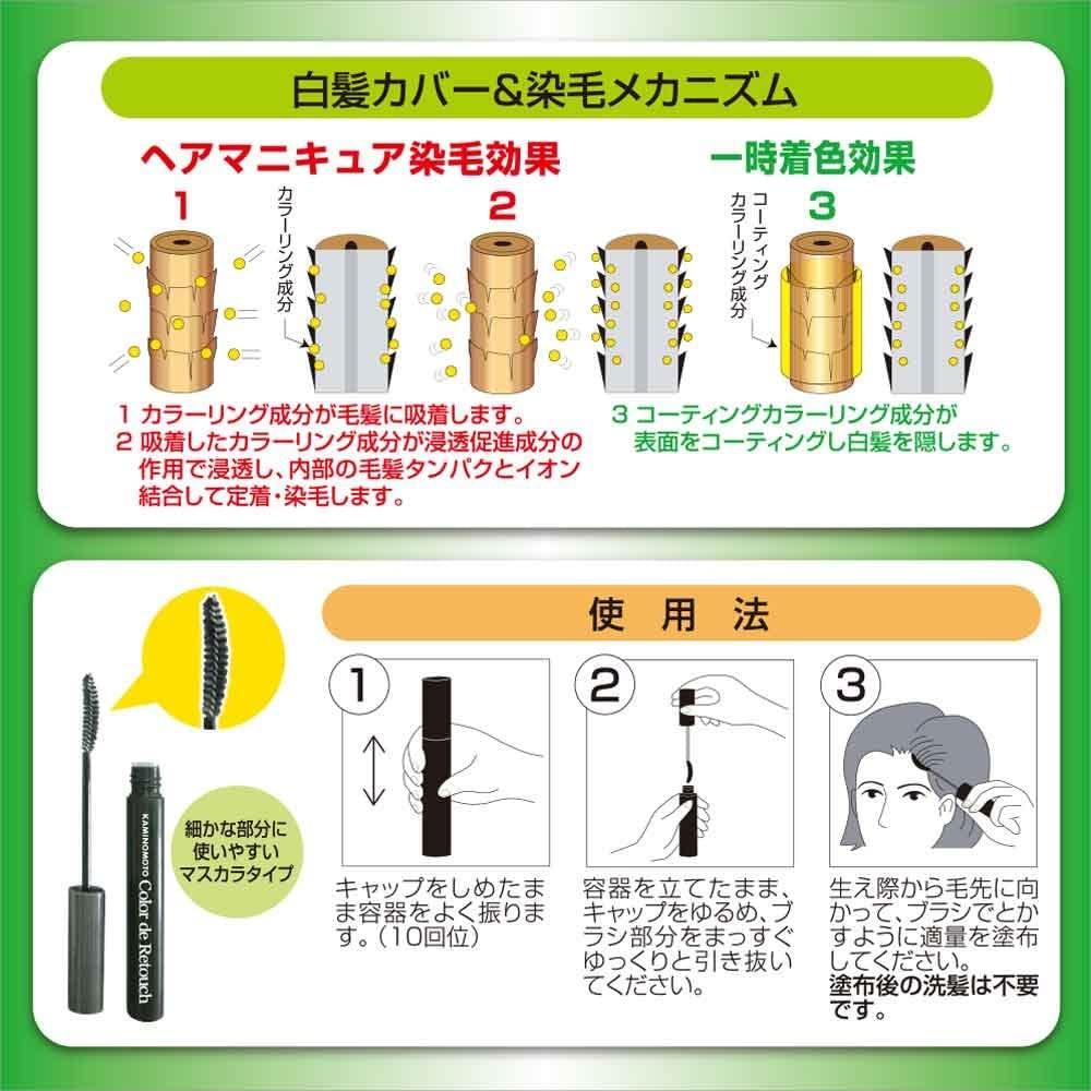 加美乃素本舗(KAMINOMOTO) カラー デ リタッチ ヘアマニキュアの商品画像4