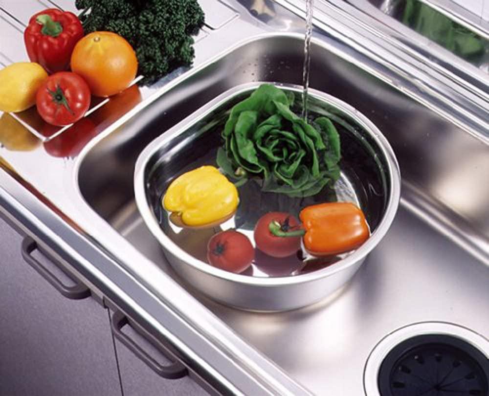 貝印(KAI) 洗い桶 D型 脚高ゴム付 DZ1141 ステンレスの商品画像7