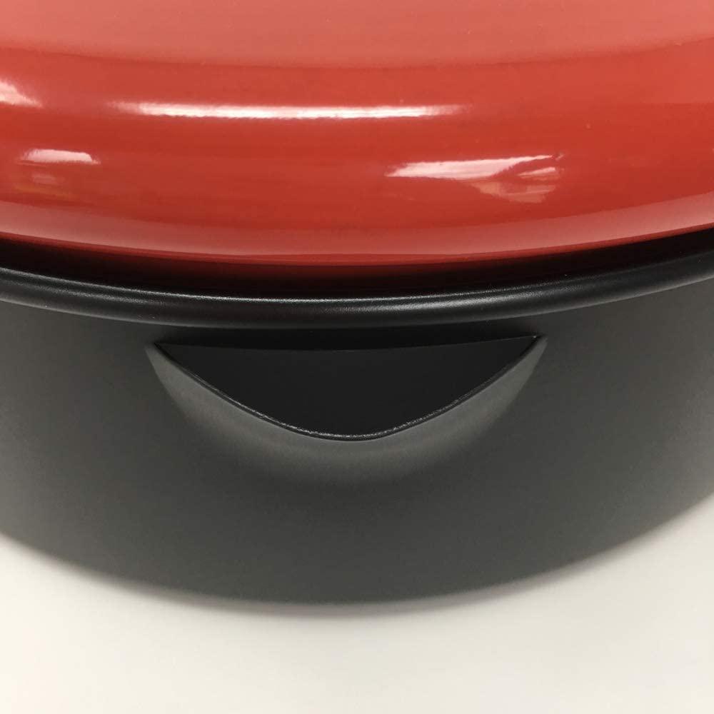 中央産業(チュウオウサンギョウ)温度計付天ぷら鍋 揚げま専科 レッド 24cmの商品画像5