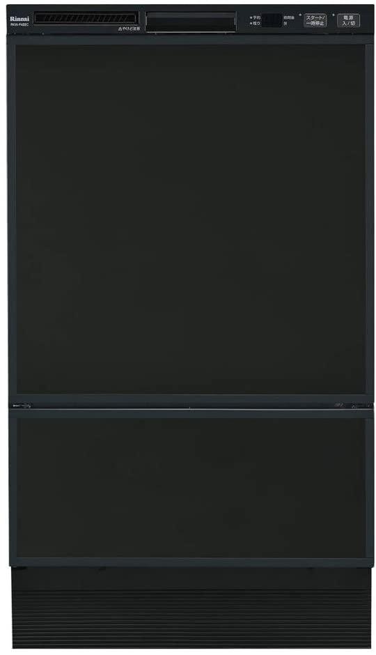 Rinnai(リンナイ) フロントオープンタイプ ビルトイン食器洗い乾燥機 RSW-F402C-B(ブラック)の商品画像