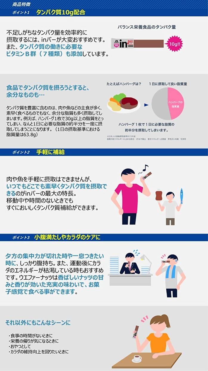 森永製菓(MORINAGA) inバープロテイン ウエハースタイプの商品画像3