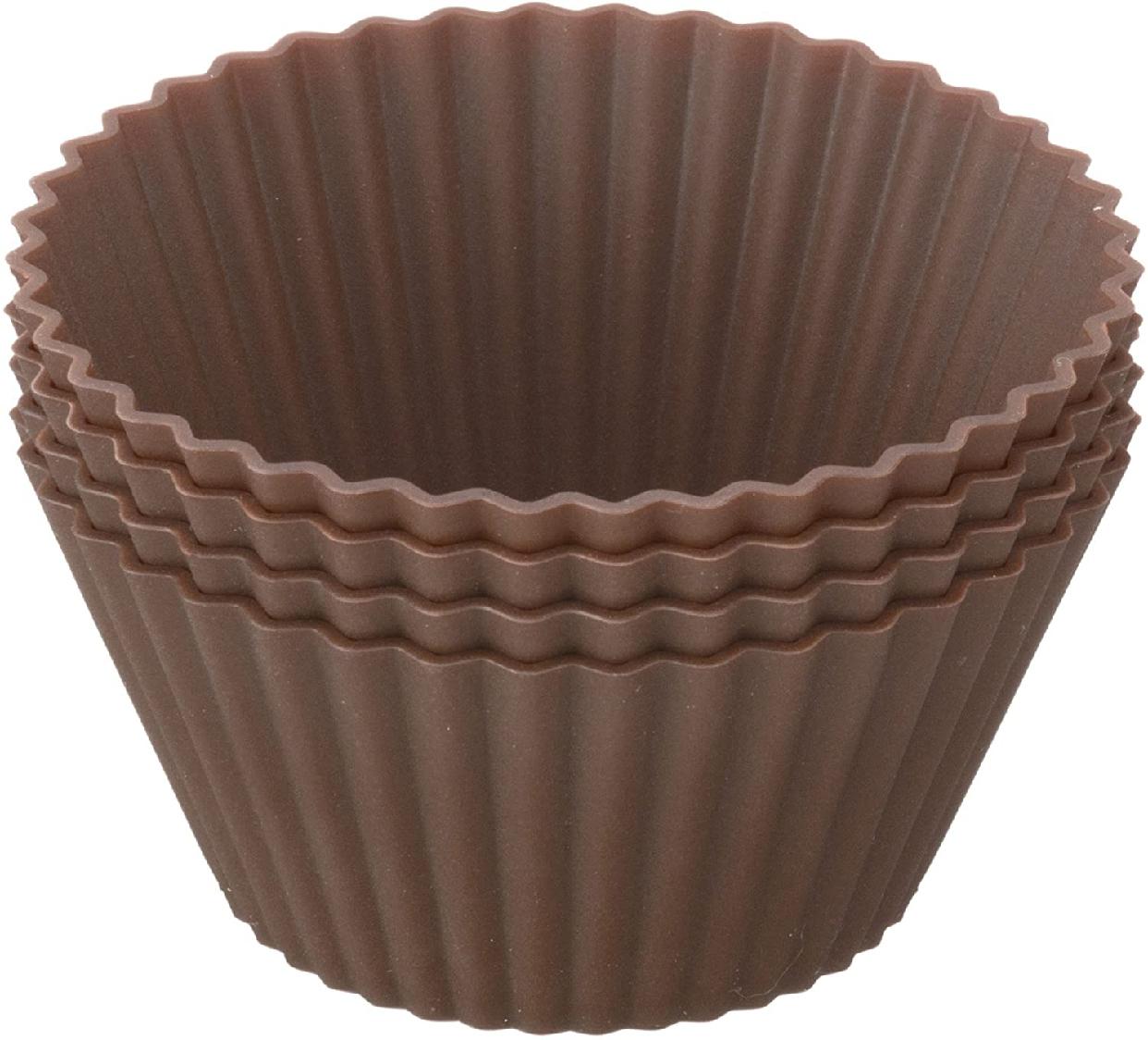 Kai House SELECT(カイハウスセレクト)型ばなれしやすいシリコーン製のマフィンカップ4個入り DL6354 ブラウンの商品画像