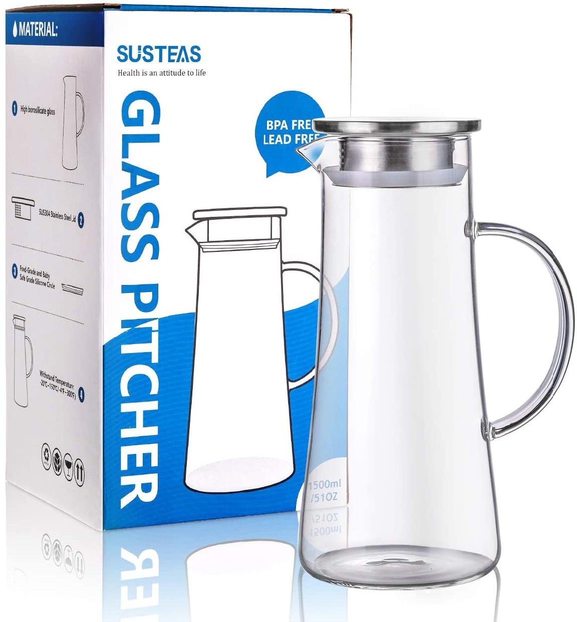 susteas(サスティース) 耐熱ガラスポット 1500ml クリアの商品画像8