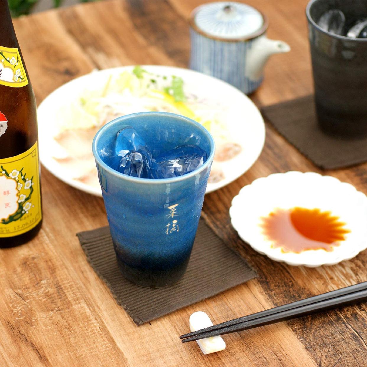 きざむ 名入れ 信楽焼 GemCup(ジェムカップ)  エメラルドグリーンの商品画像2