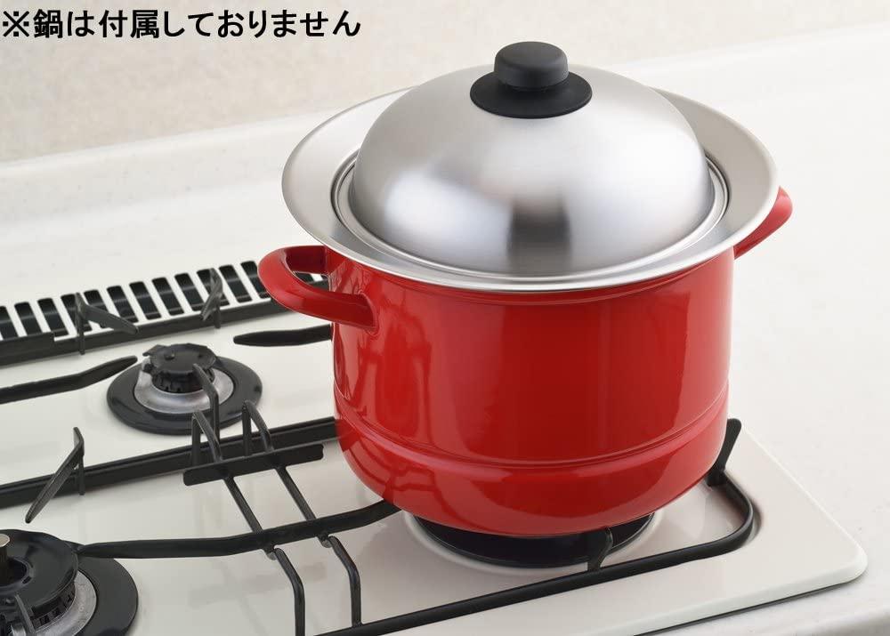 YOSHIKAWA(ヨシカワ) お鍋にのせて簡単蒸しプレート YJ2302の商品画像3