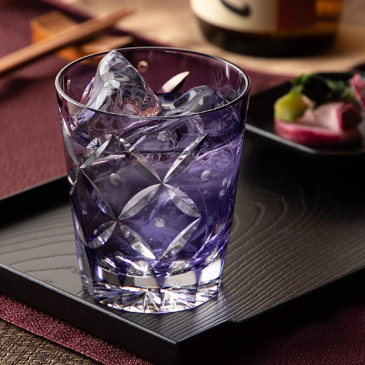 江戸切子(えどきりこ)焼酎ロックグラス<萩とススキ> 230cc T557-2650CMPの商品画像5