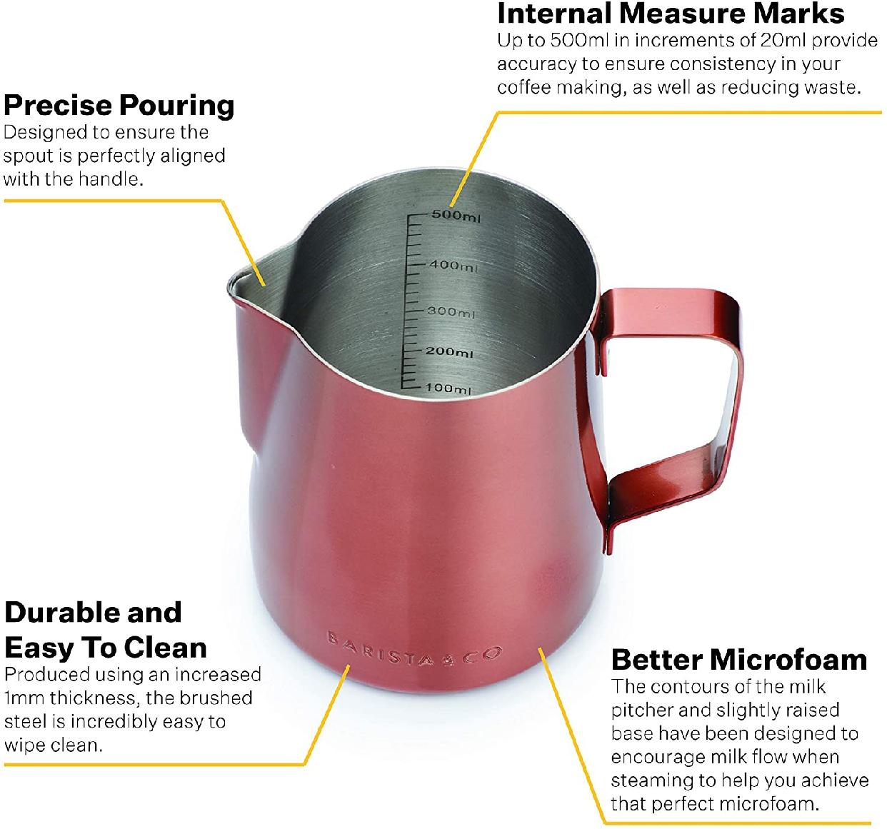 Barista&Co(バリスタアンドコー)Core Milk Jugs 420ml Copperの商品画像6