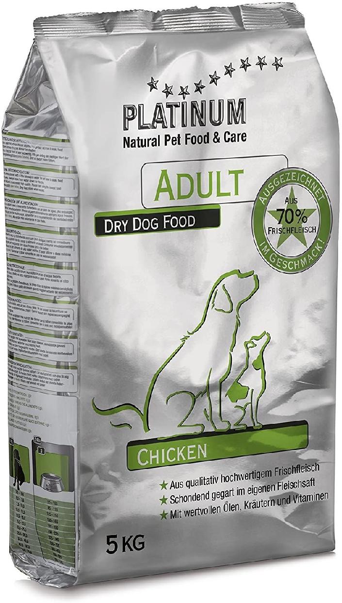 PLATINUM  Natural Pet Food(プラチナムナチュラルペットフード) プラチナム ナチュラル ドッグフード チキン 5kg グルテンフリー 成犬(一歳以上)の商品画像
