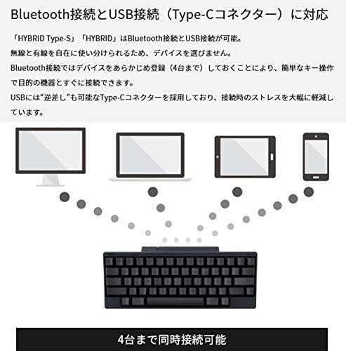 PFU Happy Hacking Keyboard Professional HYBRID Type-S PD-KB820BSの商品画像3