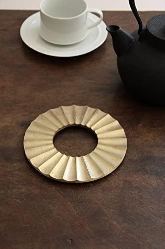 FUTAGAMI(フタガミ) 鍋敷き・太陽 真鍮色の商品画像2