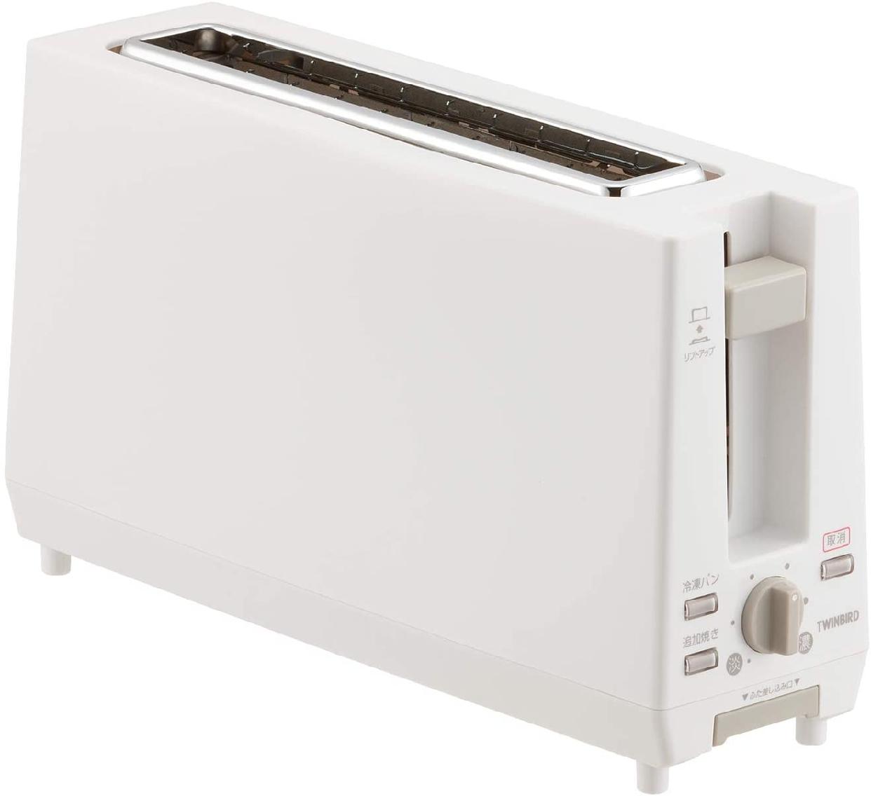 TWINBIRD(ツインバード) ポップアップトースター ホワイト TS-D404Wの商品画像
