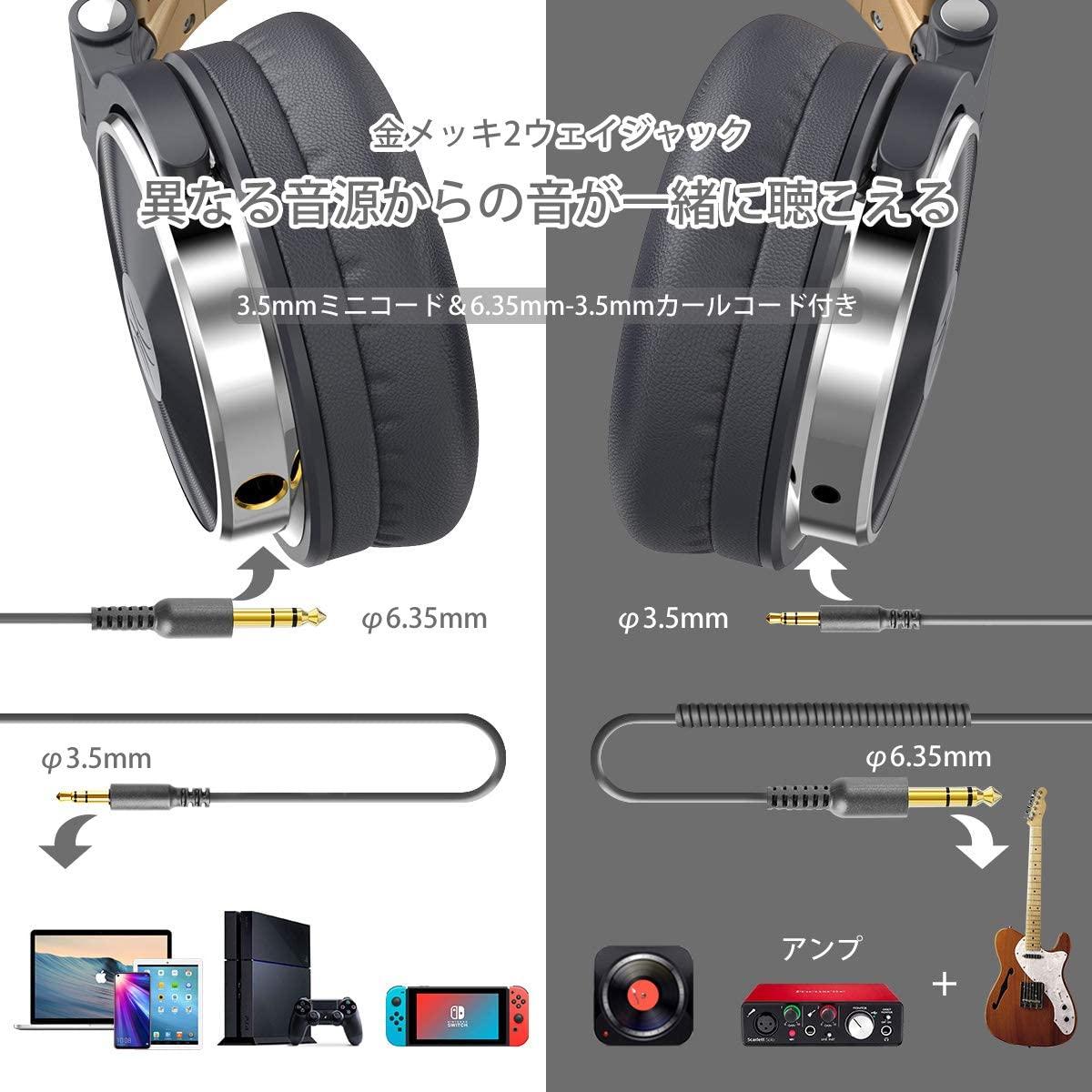 OneOdio(ワンオディオ) モニターヘッドホン Pro10の商品画像3