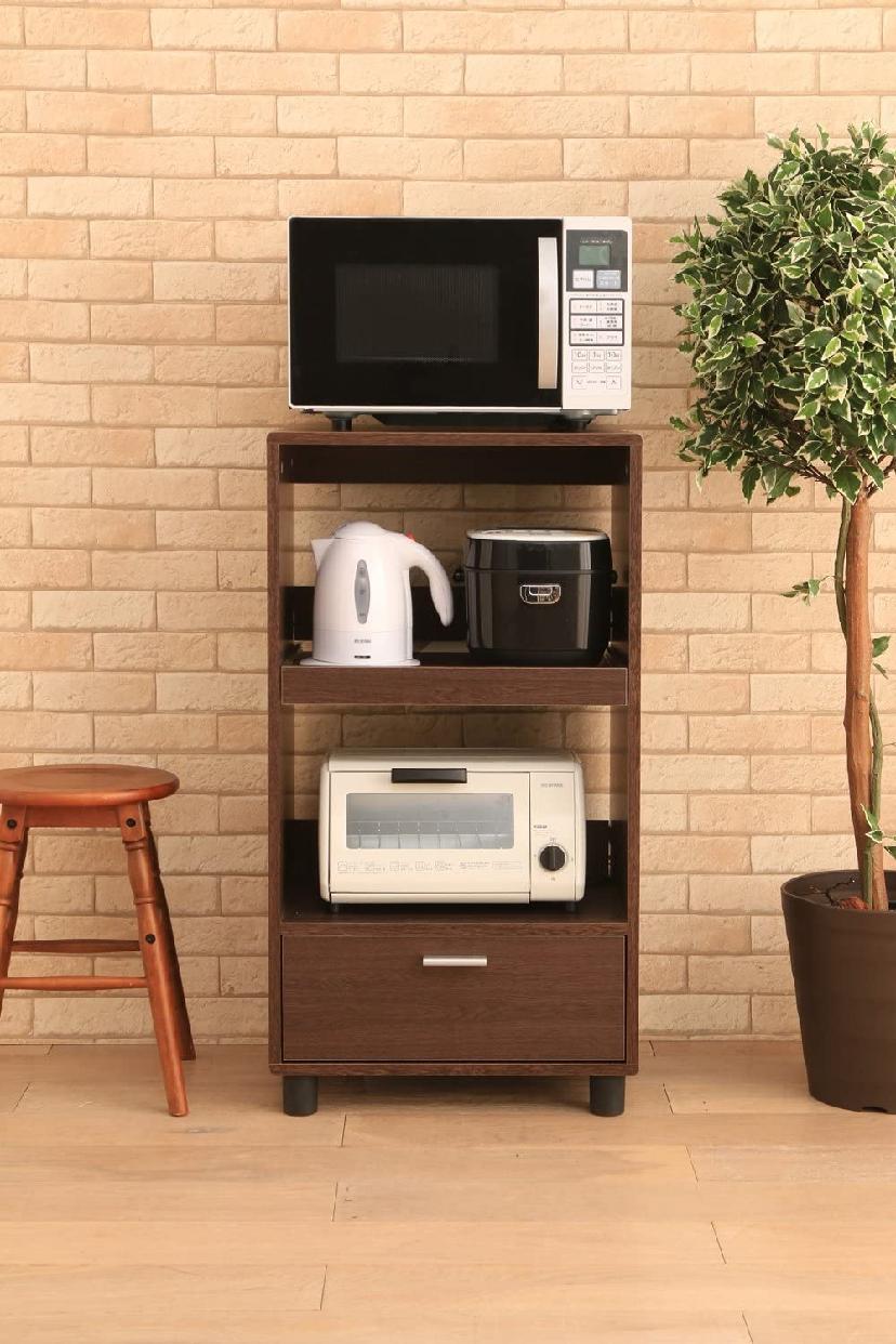 IRIS OHYAMA(アイリスオーヤマ)キッチンボード KBD-500 ブラウンオークの商品画像4