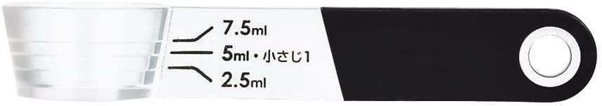 パール金属(PEARL) Softia 置いて量れる 計量スプーン ブラック C-3699の商品画像2