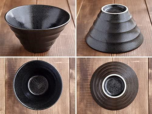 TABLE WARE EAST.(テーブルウェアイースト) どんぶり台形 ボーダー 黒耀 19cmの商品画像6