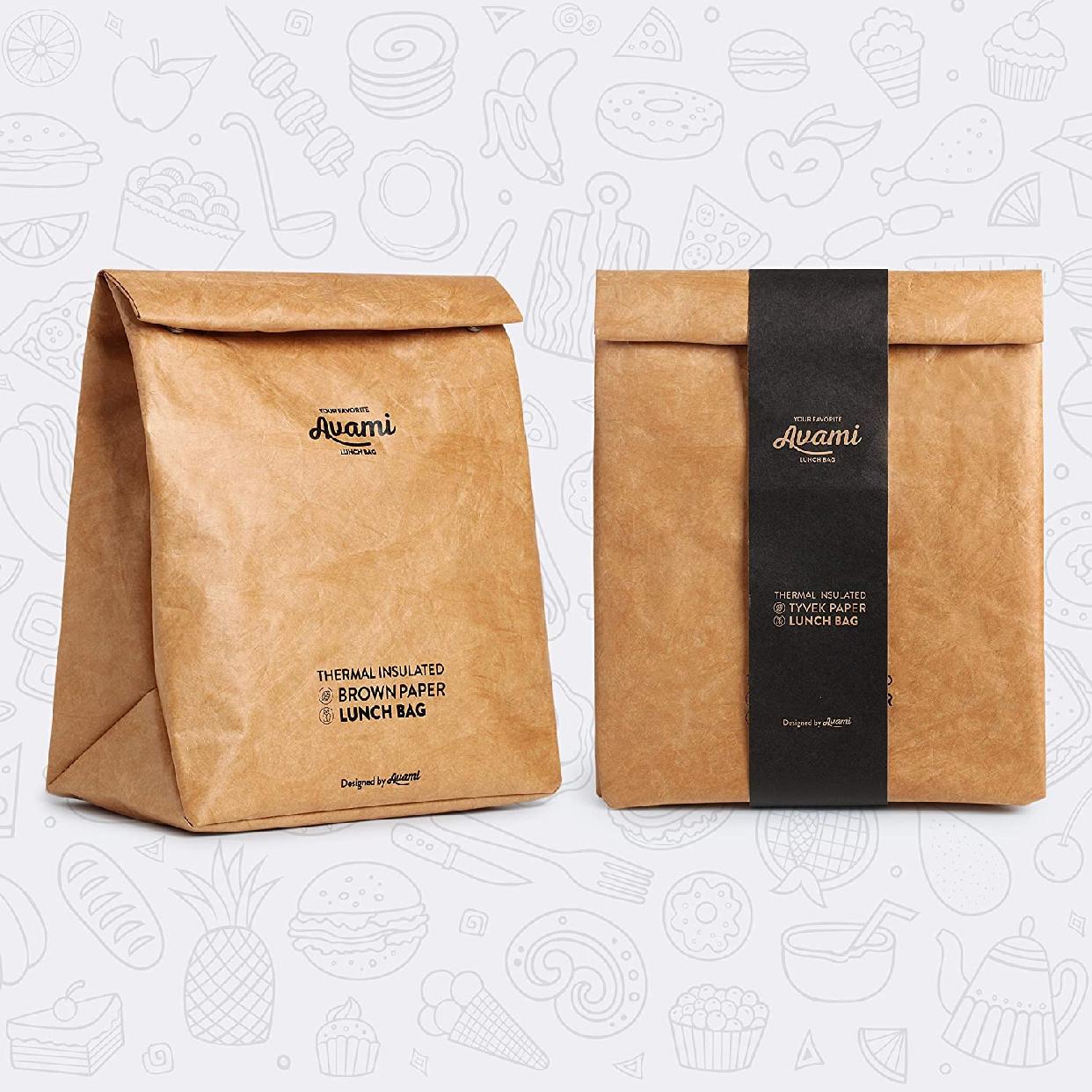 AVAMI(アヴァミ)ブラウンペーパーランチバッグの商品画像8